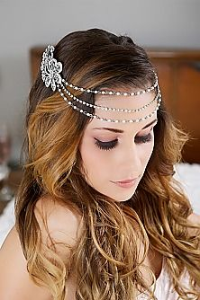 33 Elegant Bridal Tiaras and Crowns Chain Headpiece 7169d9a7a13