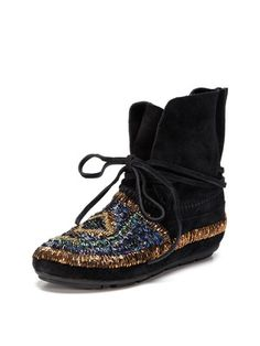 House of Harlow 1960 Madison Beaded Moccasin