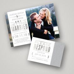 Wedding Invitation Ideas: Foil Pressed Invitations