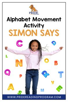 Here is a really fun alphabet movement activity called Simon Says. Included is a sample script you can follow to play this game. Hope you enjoy it!  #alphabet #kindergarten #preschool #activity #ortongillingham #phonics #letters #sounds via @pridereading Phonemic Awareness Activities, Movement Activities, Alphabet Activities, Literacy Activities, Kids Alphabet, Kindergarten Homeschool Curriculum, Teaching Kindergarten, Teaching Reading, Teaching The Alphabet