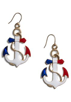 Adorable! Red, White, & blue anchors