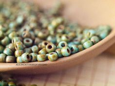 6g Blue Turquoise Picasso 7/0 Matubo Seed Beads (S809)