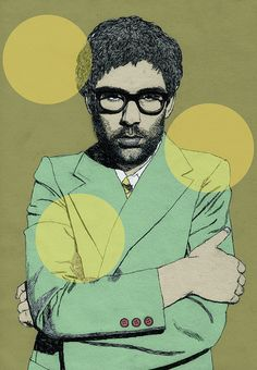 illustration of jamie lidell for Bonafide magazine  www.annahiggie.com annahiggie.blogspot.com