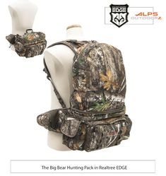 The Big bear Hunting Pack in Realtree EDGE Handbags On Sale, Luxury Handbags, Hunting Packs, Hunting Backpacks, Diy Camping, Camping Hacks, Bear Hunting, Amazon Sale, Hunting Clothes