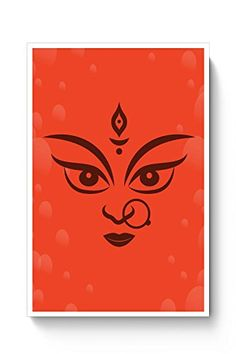 Maa Durga with Orange background Poster   #poster #posters #goddessdurga #diwali #dussehra #festival #maadurga #deepawali #durga #festivals
