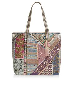 Medina Wow Embellished Tote Bag | Multi | Accessorize