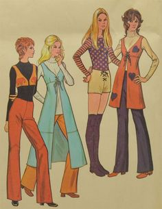Vintage Sewing Pattern McCall's Misses Coordinated Separates 1971 Sz 14 Bust 36  #McCalls
