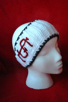 St Louis Cardinals inspired Red White and Blue by KissCrochet, $25.00