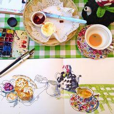 Liz Steel: Sketching in The Rocks again