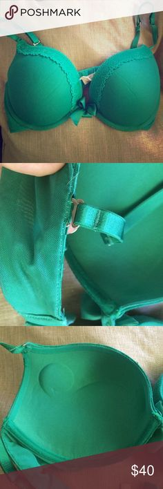 Aerie gel push-up bra Teal/green push up bra. Gently used. Straps are adjustable (can be crossed). The name of the bra is Drew. Size 34 C. aerie Intimates & Sleepwear Bras