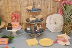 Moana Party Decorations - blue jello boat cups Moana Party Decorations, Table Decorations, Blue Jello, Cups, Party Ideas, Boat, Mugs, Dinghy, Boating