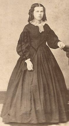 Young lady from Norristown, PA, wearing a gown with an asymmetrical bodice.  eBay.com