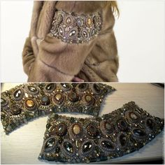 Купить Вышивка по меху - комбинированный, вышивка на одежде, шубы, вышивка по меху, одежда ручной работы Fur Fashion, Winter Fashion, Fashion Dresses, Womens Fashion, Fashion Trends, Diy Jewelry Instructions, Fur Clothing, Fur Accessories, Winter Chic