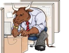 Art by Carlos Ricardez /Favorite Mythical Creature: The Minotaur  Both Ruler and Prisoner of his Corporate Labyrinth.