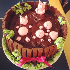Pig Sty Chocolate Cake