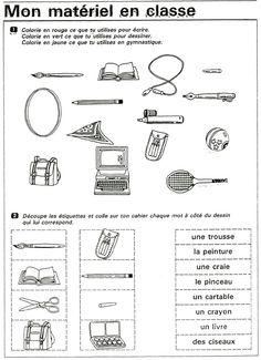 Fiches de lexique mat riel scolaire cirque consignes - Materiel de cuisine en anglais ...