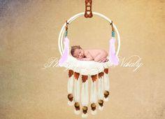 Newborn photography digital backdrop  Baby cream props
