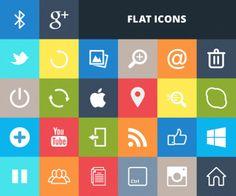 Big List of Free Flat Icon Sets – Freebies