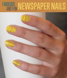 Ever wondered how to do really cool nail art designs? Check out our newspaper printed nail art designs ideas. We'll show you how to do nail art like a pro! Diy And Crafts Sewing, Crafts To Sell, Diy Crafts, Newspaper Nails, One Step, Craft Wedding, Healthy Recipes, Kids Nutrition, Cool Nail Art