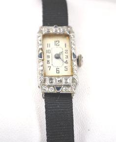 Antique Diamond with Sapphires watch
