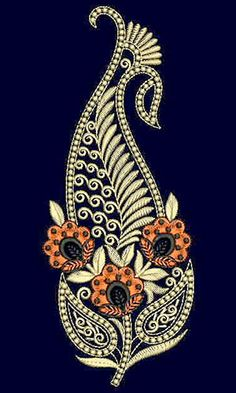 Discover thousands of images about Kerala Paisley Shape Patch Embroidery Design 21509 Paisley Embroidery, Zardozi Embroidery, Hand Embroidery Designs, Beaded Embroidery, Applique Stitches, Machine Embroidery Applique, Paisley Art, Paisley Tattoo Design, Flower Graphic Design