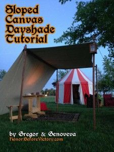 Tutorial: Simple Canvas Dayshade for Events (with or without wings) - General - canvas dayshade grommets poles ropes sunshade - Honor Before...