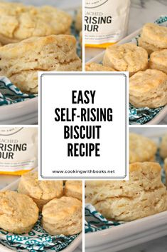 Easy Self-Rising Biscuits from Cooking with Books | Easy self-rising biscuits are the comfort food of carb lovers everywhere. They're perfect as a side or part of a main dish for every meal of the day. | self rise flour recipes, self rise flour biscuits Buttery Biscuits, Biscuits And Gravy, Self Rise Flour Recipe, Easy Desserts, Dessert Recipes, Trifle Pudding, Strawberry Desserts, Flour Recipes, Biscuit Recipe