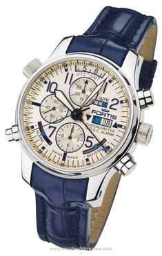 Fortis F-43 Flieger Chronograph Alarm GMT Limited Edition (Ref. 703.20.92 LC05) automatic wrist watch