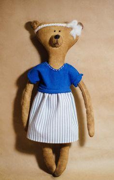 Yammi Brummi - handmade toy bear smelling coffee and cinnamon. size 34 cm