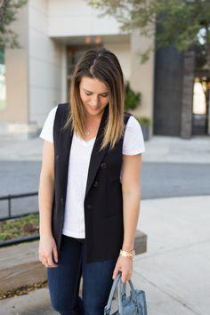 Zara Black Vest | Class Meets Couture