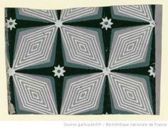Titre : [Papier à motif répétitif] : [papier peint] Éditeur : Dutoit (Paris) Date d'édition : 1801 Sujet : Ornements géométriques