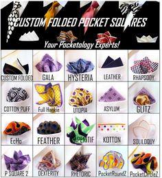 Pre-folded pocket squares -- gift idea for men
