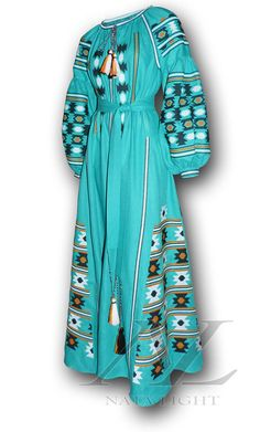 This item is unavailable Embroidery On Clothes, Embroidery Dress, White Embroidered Dress, Mexican Dresses, Folk Fashion, Turquoise Color, Indian Outfits, Ukraine, Bohemian Clothing