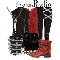 """Rufio"" by lalakay on Polyvore (just watched ""Hook""tonight, this seemed like an appropriate pin) ;)"