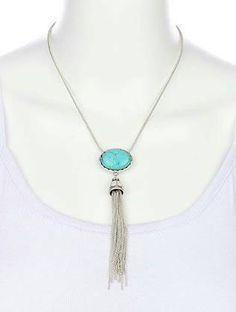 Mira este artículo en mi tienda de Etsy: https://www.etsy.com/listing/229483871/natural-turquoise-stone-tossel-necklace