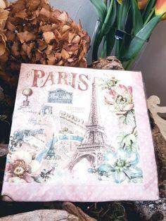 """2,95 €   Servietten """"Paris"""" Vintage Stil, Ted, Tote Bag, Dinner Napkins, Totes, Tote Bags"""