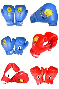 [Visit to Buy] 2017 New High Quality Children Durable Boxing Gloves Cartoon Cuffs Boxing Training Gloves in PU Leather Gloves 1 Pair #Advertisement