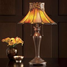 Orange Floral Table Lamp from Montgomery Ward® | SW452531