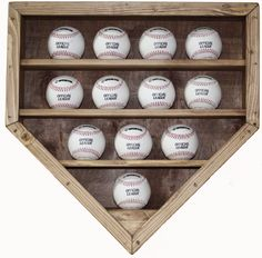 12 Baseball Display Case by ScenicViewCreations on Etsy