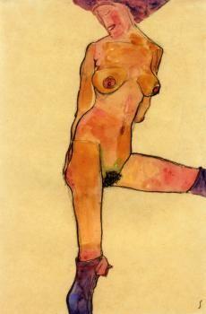 Female Nude - Egon Schiele