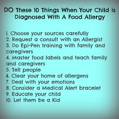 Do These 10 Things When Your Child is Diagnosed With A Food Allergy Cashew Allergy, Peanut Allergy, Rice Milk, Christian Parenting, Food Labels, Raising Kids, Food Allergies, Your Child, A Food