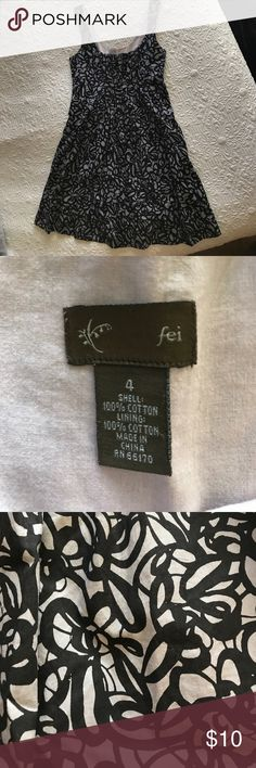 Fei Dress Black & grey pattern. With pockets, size 4. Fei Dresses
