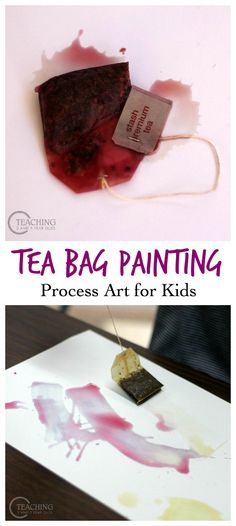 Preschool Painting with Tea Bags - fun process art that kids love!