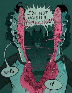I'm not wearing hockey pads! by MC Wolfman, via Behance
