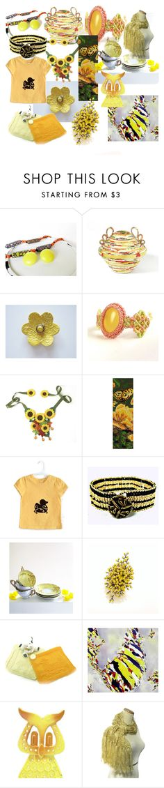 """""""Sunny Yellow On A Cloudy Day"""" by clschmauder ❤ liked on Polyvore featuring interior, interiors, interior design, home, home decor and interior decorating"""