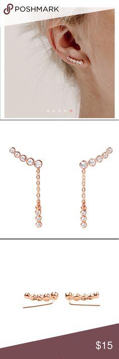 Rose Convertible Ear Climbers Rose gold ear climbers from Chloe + Isabel Chloe + Isabel Jewelry Earrings