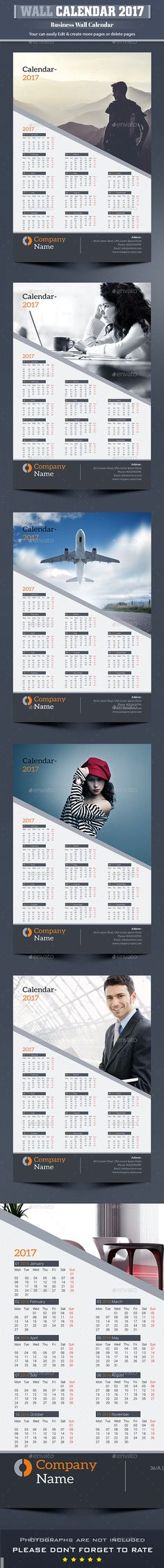 Desk Calendar 2017 Desk calendars, Calendar 2017 and Indesign - Indesign Calendar Template
