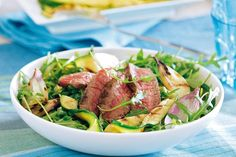 Zomerse biefstuksalade I Love Food, Good Food, Yummy Food, Salad Recipes, Healthy Recipes, Tasty Dishes, Dinner Recipes, Healthy Eating, Lunch
