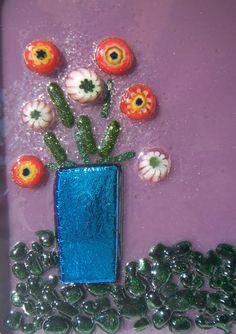 Square framed miniature by CrazyEyeFusedGlass on Etsy, $30.00