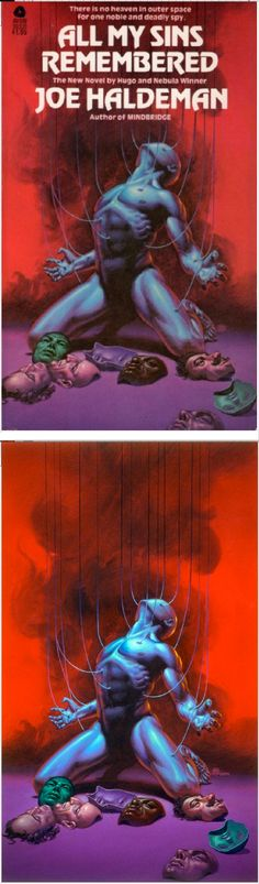 MICHAEL WHELAN - All My Sins Remembered by Joe Haldeman - 1978 Avon Books - print/cover by michaelwhelan.com